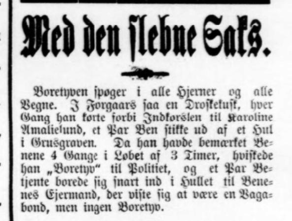 Svendborg Avis Petit-notits 1902