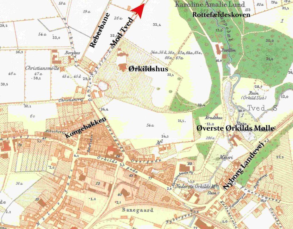 Kort over Svendborg nordøst 1902