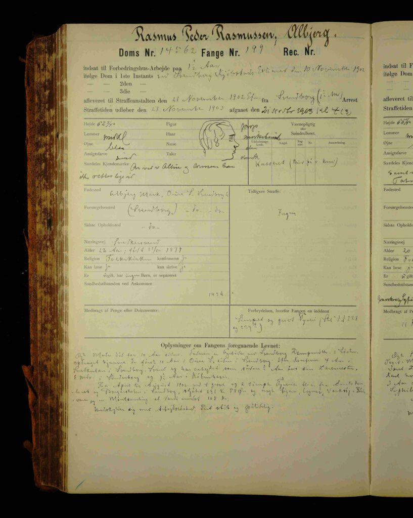 Stambog fra Vridsløselille Statsfængsel