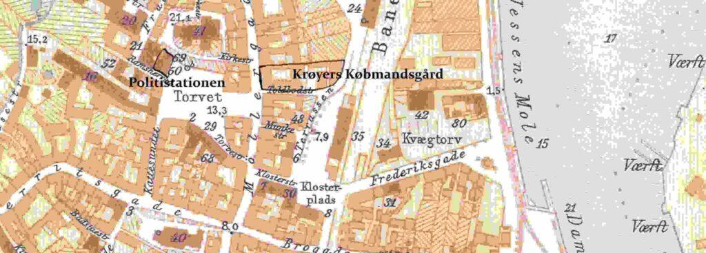 Kort over Svendborg by 1902