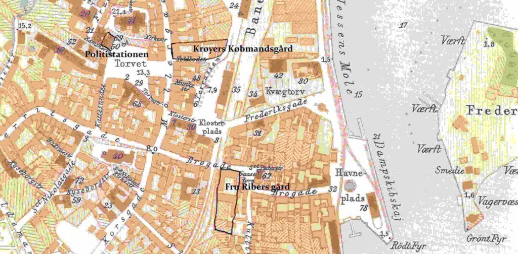 Svendborgs bymidte 1902