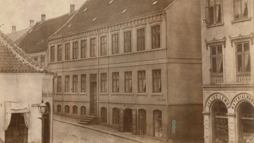 Krøyers købmandsgård i Svendborg, opført 1850.