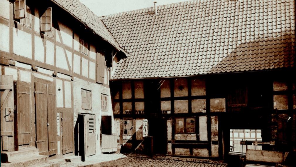 Baghuse, Krøyers købmandsgård i Svendborg 1916