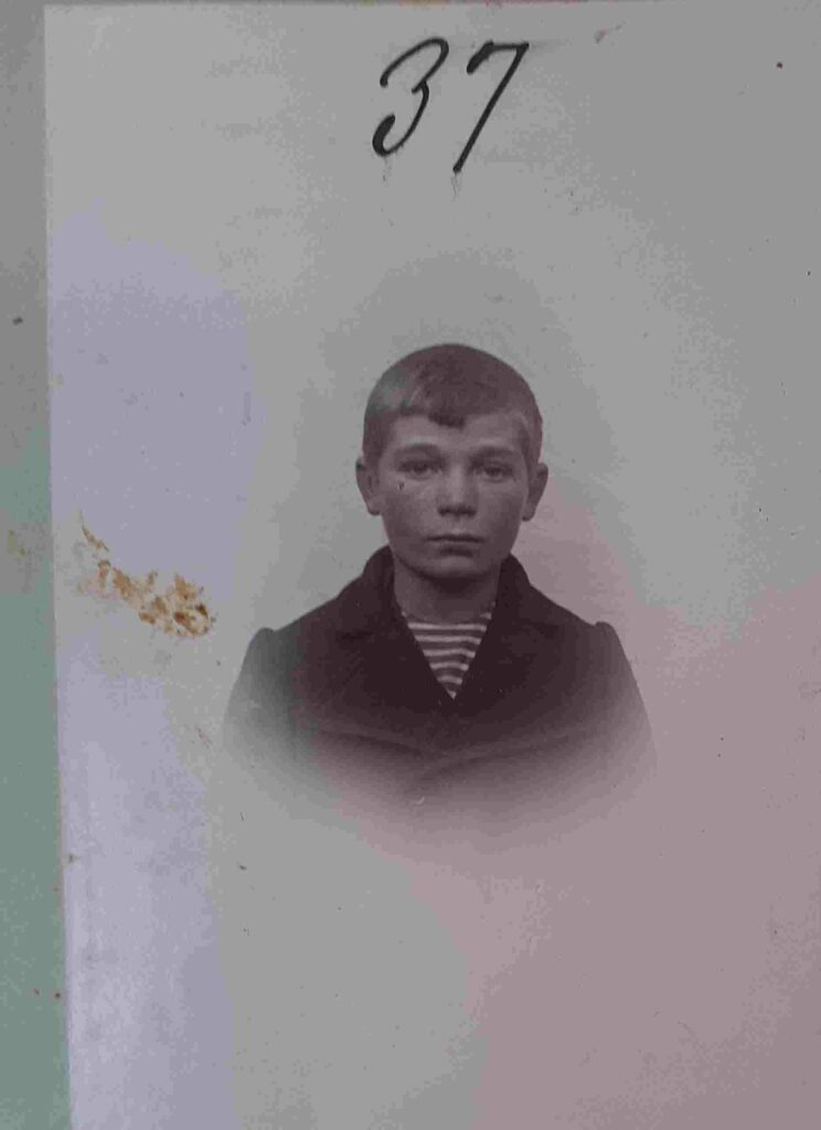 Peter Laurits Jensen, 14 år i 1902